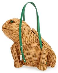 Kate Spade 'Spring Forward' Wicker Frog Bag - Lyst