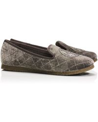 Tory Burch Gray Billy Slipper - Lyst