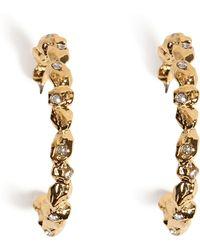 Alexis Bittar Dark Phoenix Crystal Encrusted Rocky Hoop Earrings - Lyst