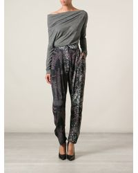 Vivienne Westwood Anglomania Void Printed Trousers - Lyst