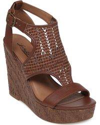 Lucky Brand Women'S Laffertie Platform Wedge Sandals - Lyst