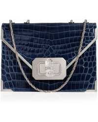 Marchesa Valentina Crocodile Shoulder Bag - Lyst