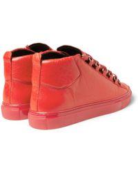 Balenciaga Arena Creasedleather Sneakers - Lyst