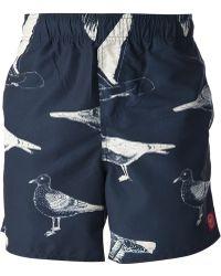 Obey - Port Street Swim Shorts - Lyst