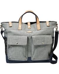 Fossil Utility Leather-Trimmed Tote - Lyst