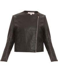 Paul & Joe Sister Leather Short Biker Jacket - Lyst