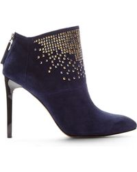 French Connection Navy Monroe Studded Booties - Lyst