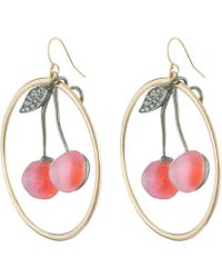 Alexis Bittar | Crystal Encrusted Knotted Cherry Hoop Earring | Lyst