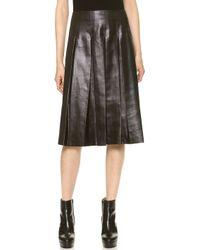 Tess Giberson - Coated Pleated Skirt - Black - Lyst