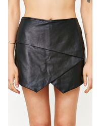 Silence + Noise - Vegan Leather Skort - Lyst