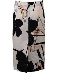 Marni Print Pencil Skirt - Lyst
