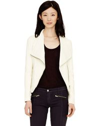 Club Monaco Mackage Pina Leather Jacket - Lyst