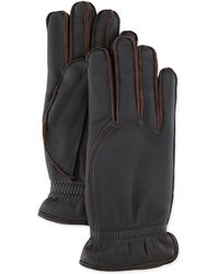Loro Piana Leather Gloves With Cashmere Lining - Lyst