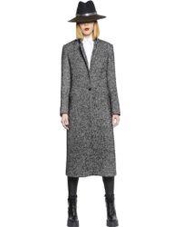 Tagliatore 0205 Wool Blend Herringbone Coat - Lyst