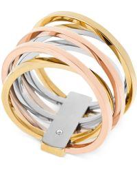 Michael Kors Michel Kors Tri-Tone Crisscross Ring - Lyst