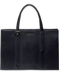 Cole Haan Vestry Leather Gusseted Satchel - Lyst