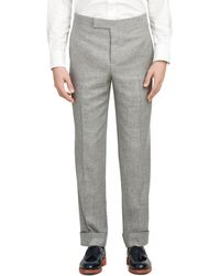 Brooks Brothers Grey Tab Trousers - Lyst