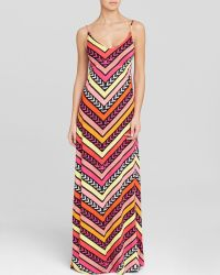 Macbeth Collection - Printed Swim Cover Up Maxi Dress - Lyst