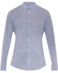 Balenciaga Hairline Stripe Cotton-Blend Shirt - Lyst