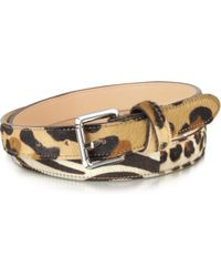 FORZIERI - Animal Print Haircalf Leather Belt - Lyst