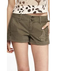 Express 2 12 Inch Weathered Seamed Short - Lyst