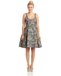 French connection Woven Floral Dress - Lyst