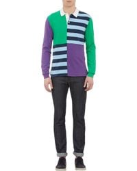 Shipley & Halmos - Colorblock Striped Rugby Shirt - Lyst