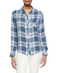 Rails Hunter Long-Sleeve Plaid Shirt - Lyst