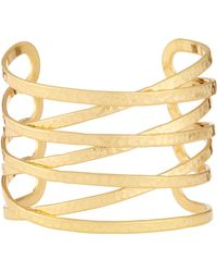 Lydell NYC - Hammered Cuff Bracelet - Lyst