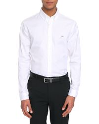 Lacoste White Pinpoint Shirt - Lyst