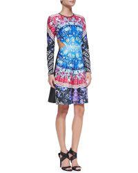 Clover Canyon Spanish Fan Dress W Cutout Sides Multi X-small - Lyst