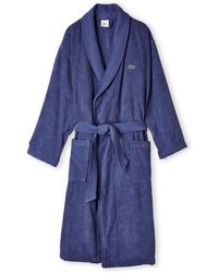 Lacoste Textured Terry Cloth Robe - Lyst