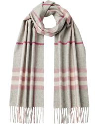 Burberry Cashmere Giant Icon Check Scarf - Lyst