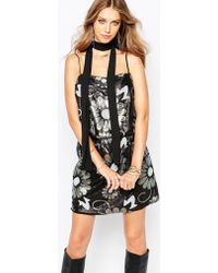 Anna Sui | Poppy Print Sequin Dress | Lyst