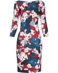Erdem Reese Ohana-Print Jersey Dress red - Lyst
