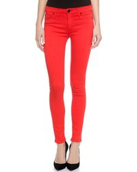 Hudson Nico Midrise Super Skinny Jeans - Infrared - Lyst