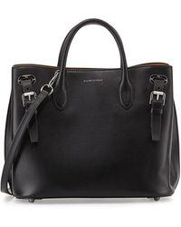 Ralph Lauren Small Grommet Tote Bag black - Lyst