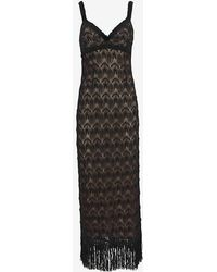Missoni Fringe V Neck Gown - Lyst