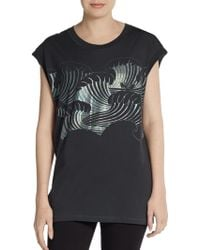 3.1 Phillip Lim Foiled Tidal Waves Muscle Tank Top - Lyst