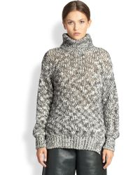 Yigal Azrouel Marled Turtleneck Sweater - Lyst