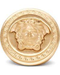 Versace Gold Medusa Stamp Ring - Lyst