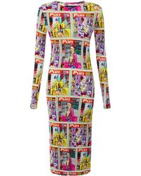 House Of Holland Page 3 Midi Dress - Lyst