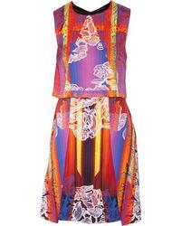Peter Pilotto Layered Stretch-Silk Dress - Lyst