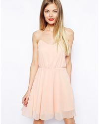 Asos Chiffon Cami Skater Dress - Lyst