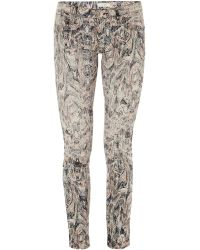 IRO Ogden Printed Low-Rise Skinny Jeans - Lyst