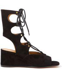 Chloé Gladiator Wedge Sandal - Lyst