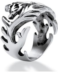 Palmbeach Jewelry - Men's Dragon Cutout Ring In Stainless Steel Sizes 9-16 - Lyst