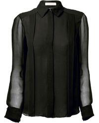 Matthew Williamson Black Silk Georgette Shirt - Lyst