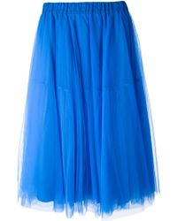 P.A.R.O.S.H. Blue Tulle Skirt - Lyst