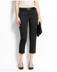 Ann Taylor Petite Curvy Cotton Sateen Cropped Pants - Lyst